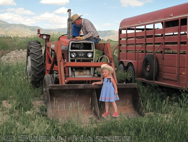 Nothing beats a day with Grandpa and Grandma on the #Montana #family ranch! Photo by Sue Marxer.
