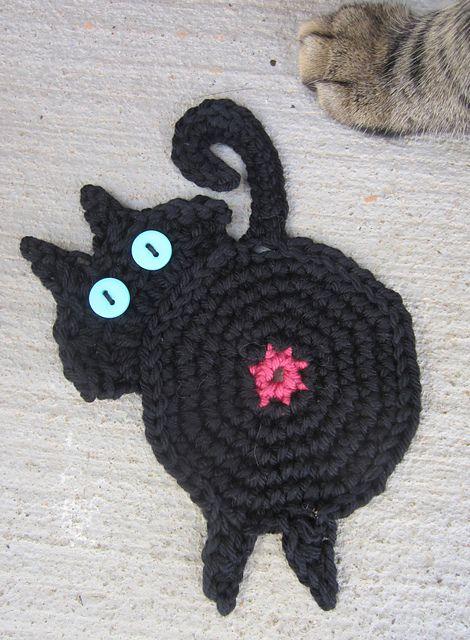 FREE Crochet Pattern - Cat Coasters – Chunky Yarn Barn | 640x470