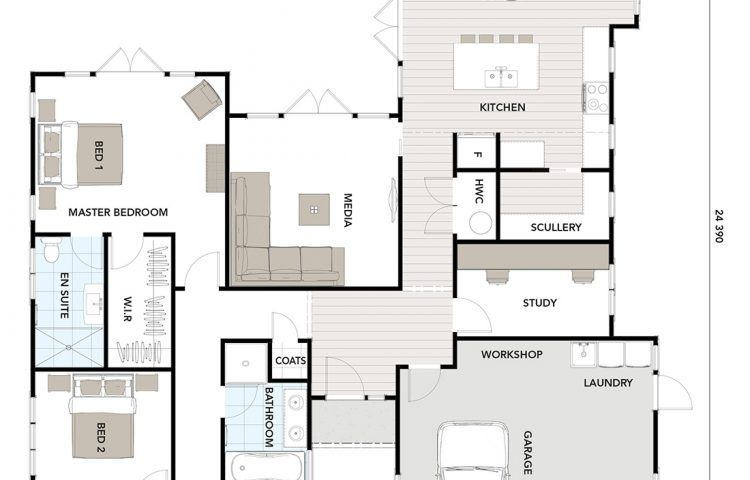 Floor Plan Friday Corner Block Split Level Floor Plans Home Design Floor Plans Split Level House Plans