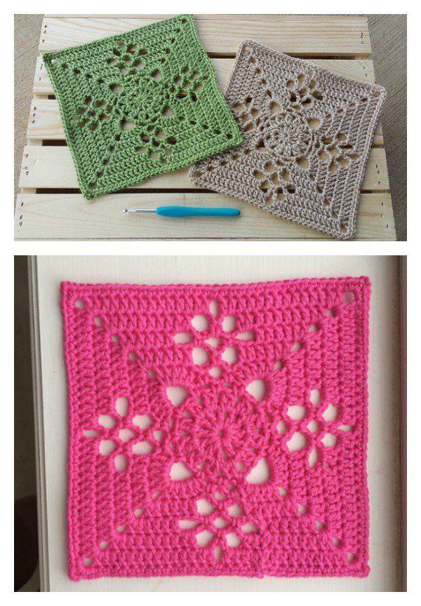 Crochet Victorian Lattice Square Blanket Free Pattern | Crochet ...