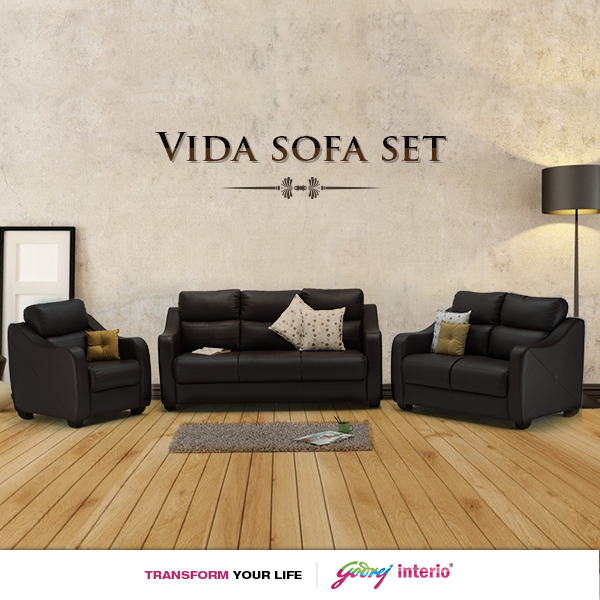 Set a new style statement with our VIDA sofa set and enhance your
