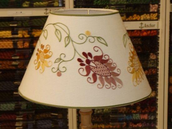 lamparas de tela en patchwork -