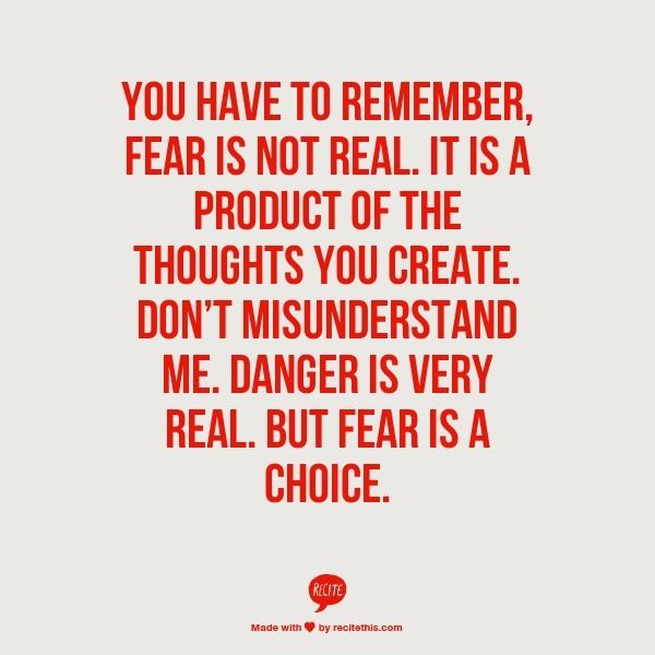 Fear Is Not Real Will Smith Quote From Recitethiscom Words