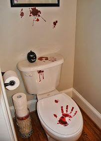 Halloween Bathroom Decorations That'll Scare The Crap Out Of Them - Twins Dish