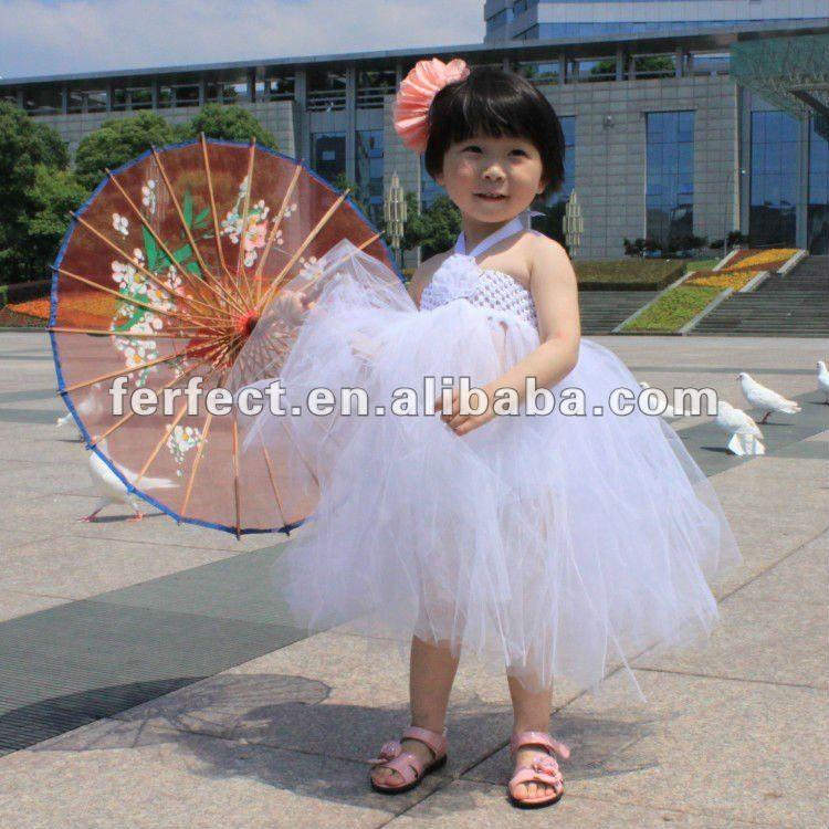 Nova bonito vestido tutu do bebê para meninas da criança crochet top