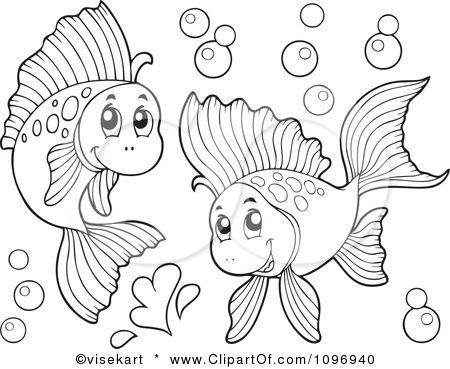 Clipart Two Outlined H...