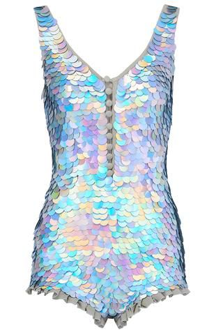 7ea253774760 SEA CIRCUS SEQUIN PLAYSUIT - HOLOGRAM SILVER Sequin Playsuit