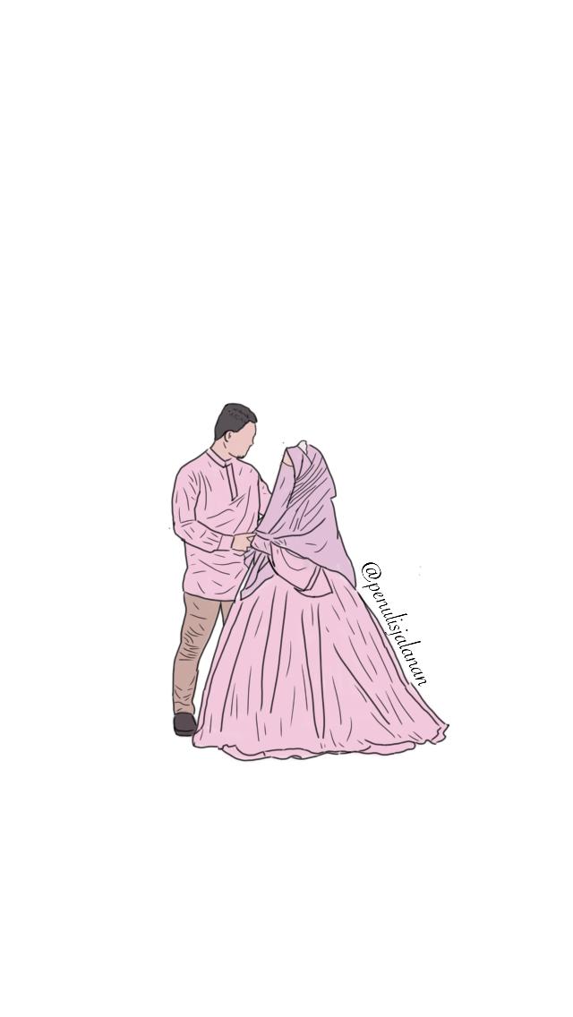 Pin oleh Doodle penulisjalanan di Doodle couple islamic