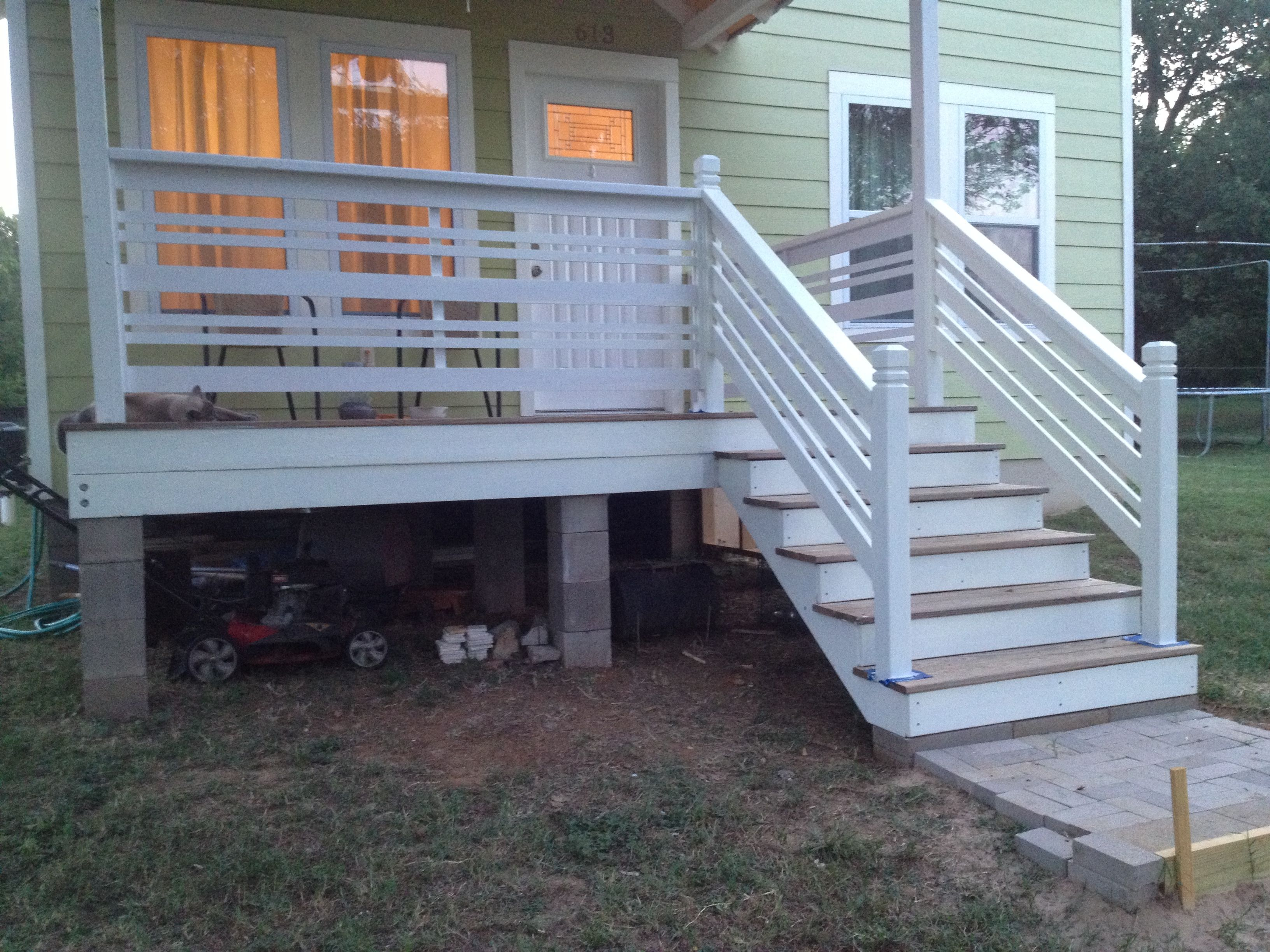 Front Porch Horizontal Railing Building A Treehouse