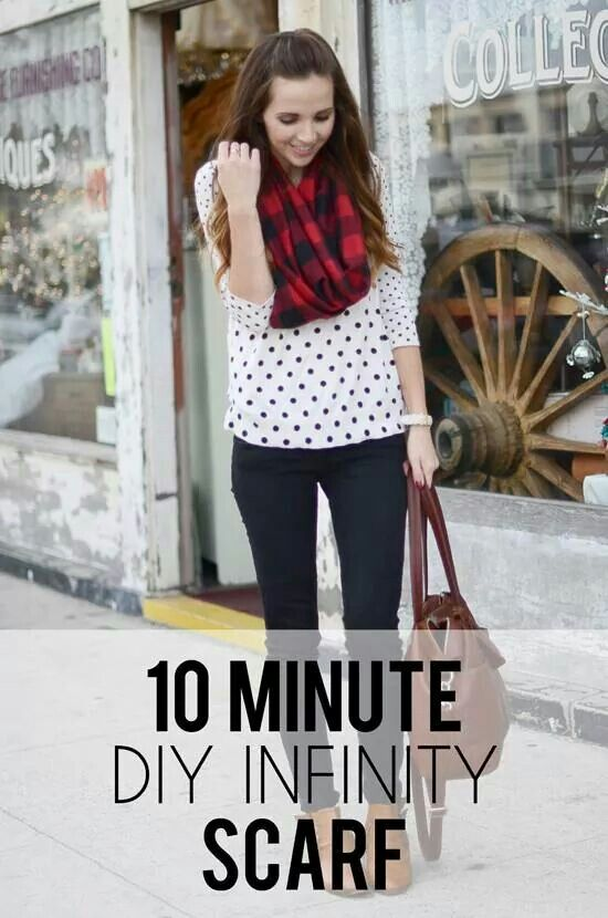 10 minute - Infinity scarf