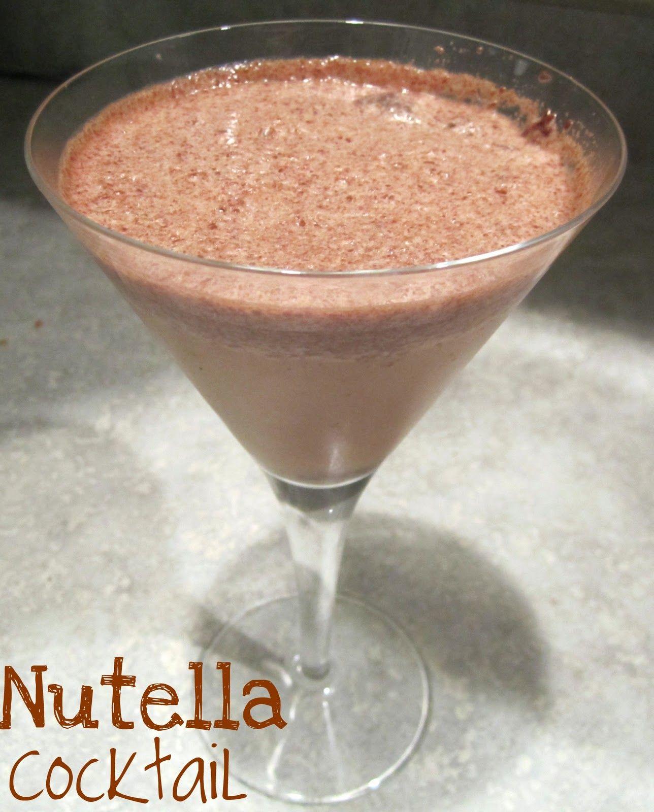 Nutella Cocktail #kahlua or #baileys #vodka #chocolate