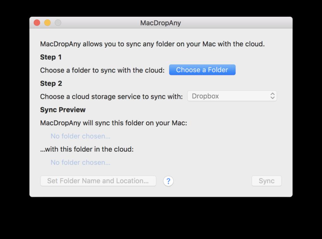 mac sync any folder to dropbox