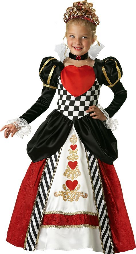 Queen of Hearts Costume for Girls Party City 7999 Alice in