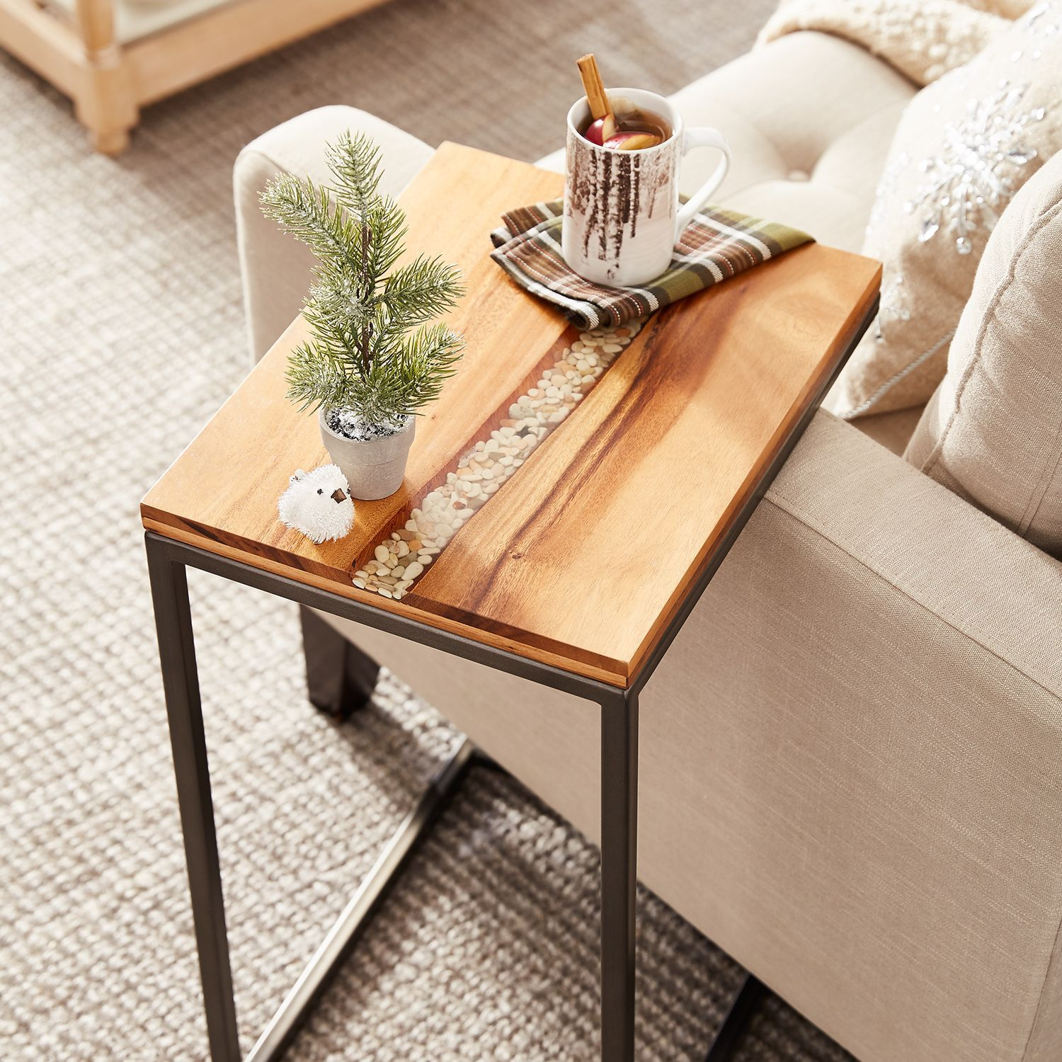 River Rock C Table C Table River House Decor Living Room Table