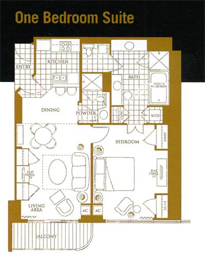 Mgm Signature 2 Bedroom Suite: MGM Grand Signature 1 Bedroom Floor Plan