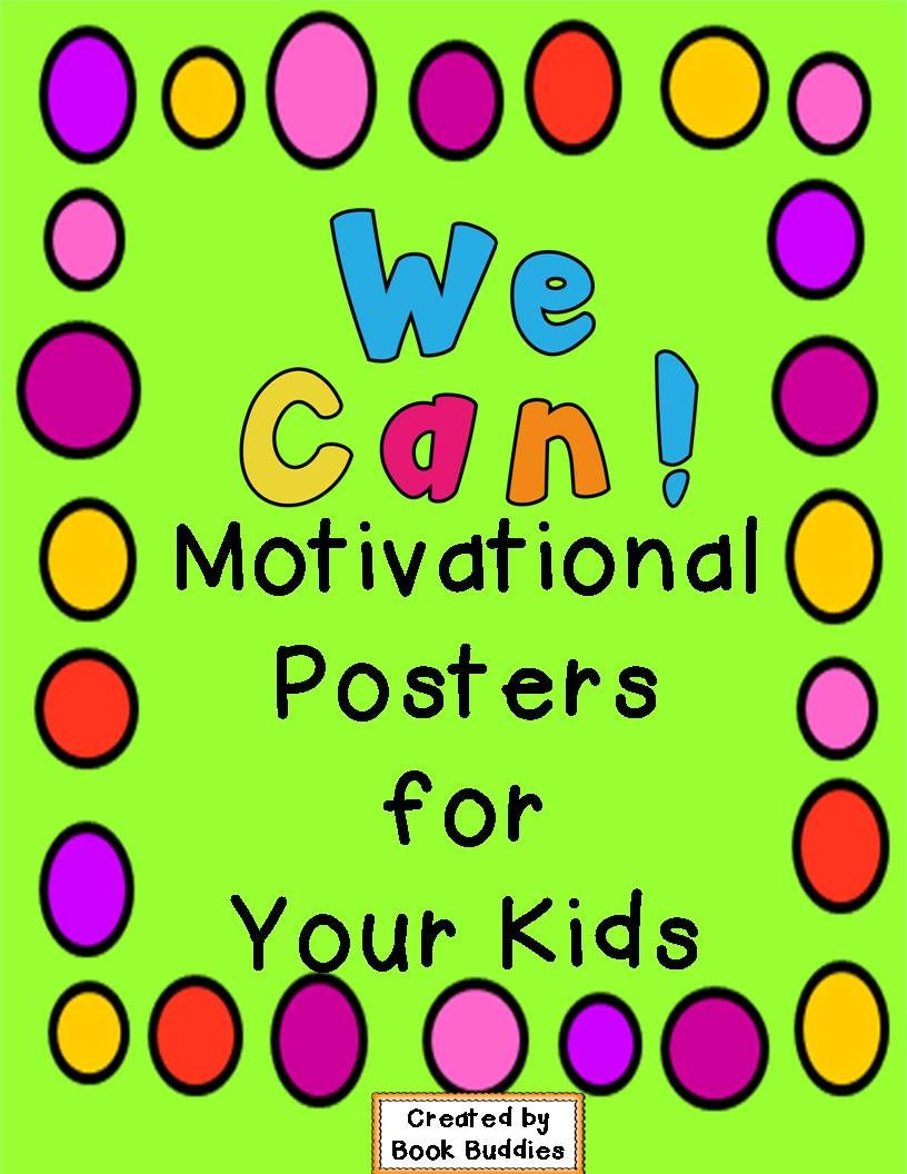 Free Colorful Motivational Poster To Cheer Your Kids On As They