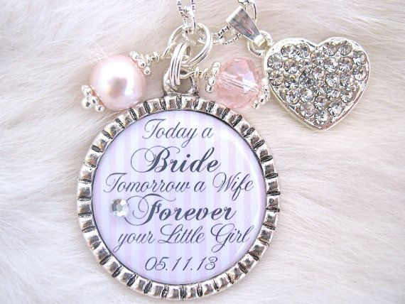 Mother Of The Bride Gift Groom Today A Quote Charm Necklace Beach Jewelry Mom Keychain Love Between