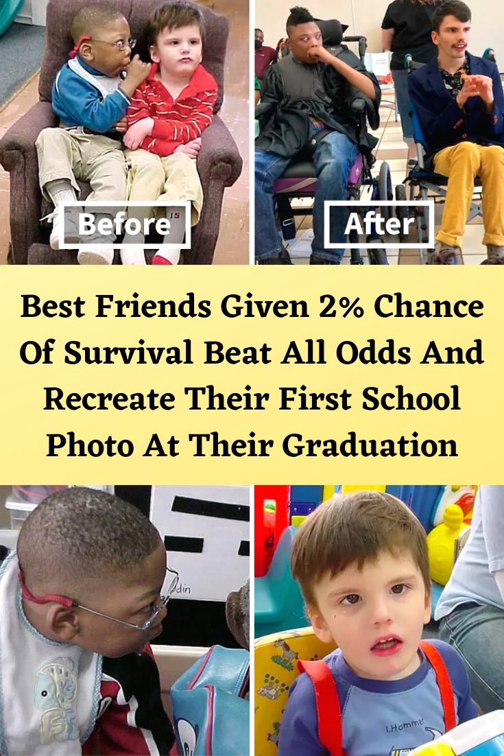 Photo of Best Friends Given 2% Chance Of Survival Beat All Odds And Recreate Their First School Photo At Thei