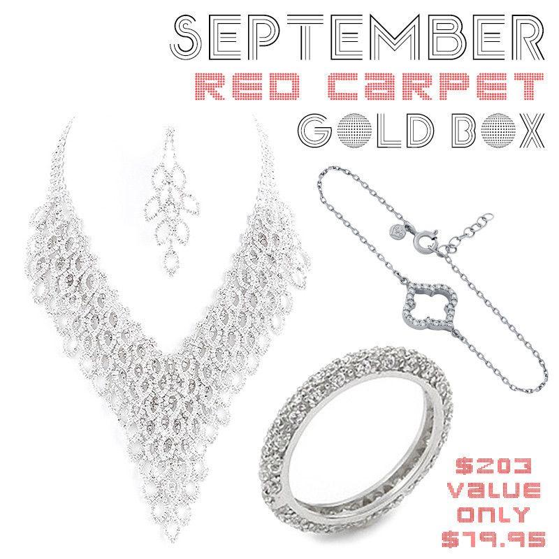 *September Red Carpet Gold Box - Jewelry Buzz Box  - 1