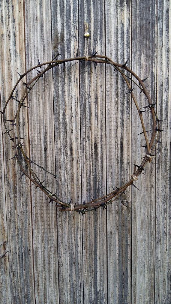 Thorn Wreath Natural Acacia Thorns Crown Pagan Wiccan Home Decor Door  Protection Christ Crown Of Thorns