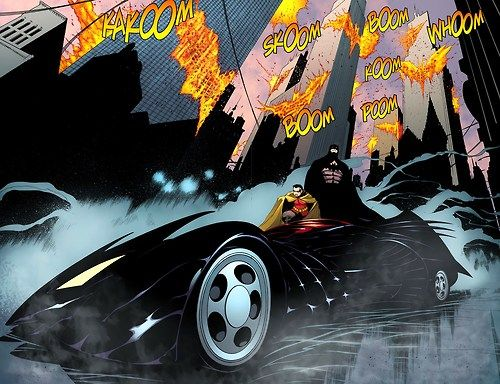 The Batmobile With Images Robin Comics Comic Illustration