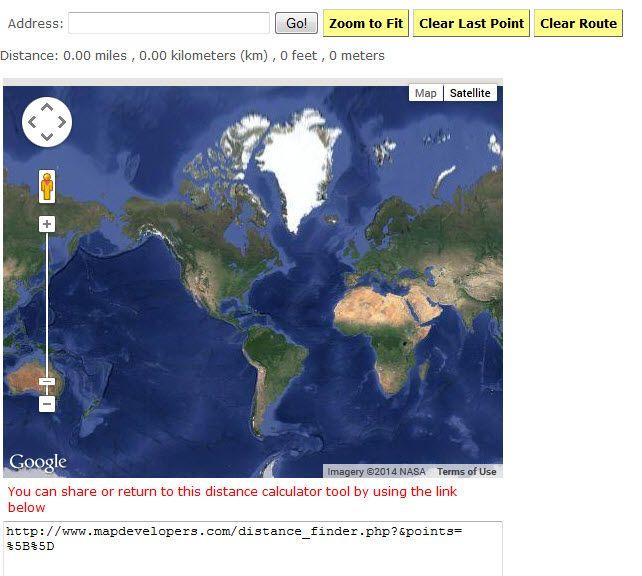World Map Distance Calculator