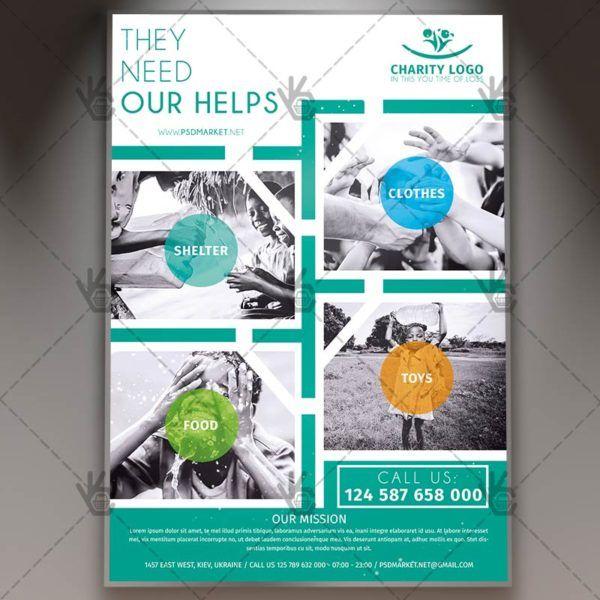 Charity - Premium Flyer PSD Template PSDmarket Pinterest Psd - disaster relief flyer