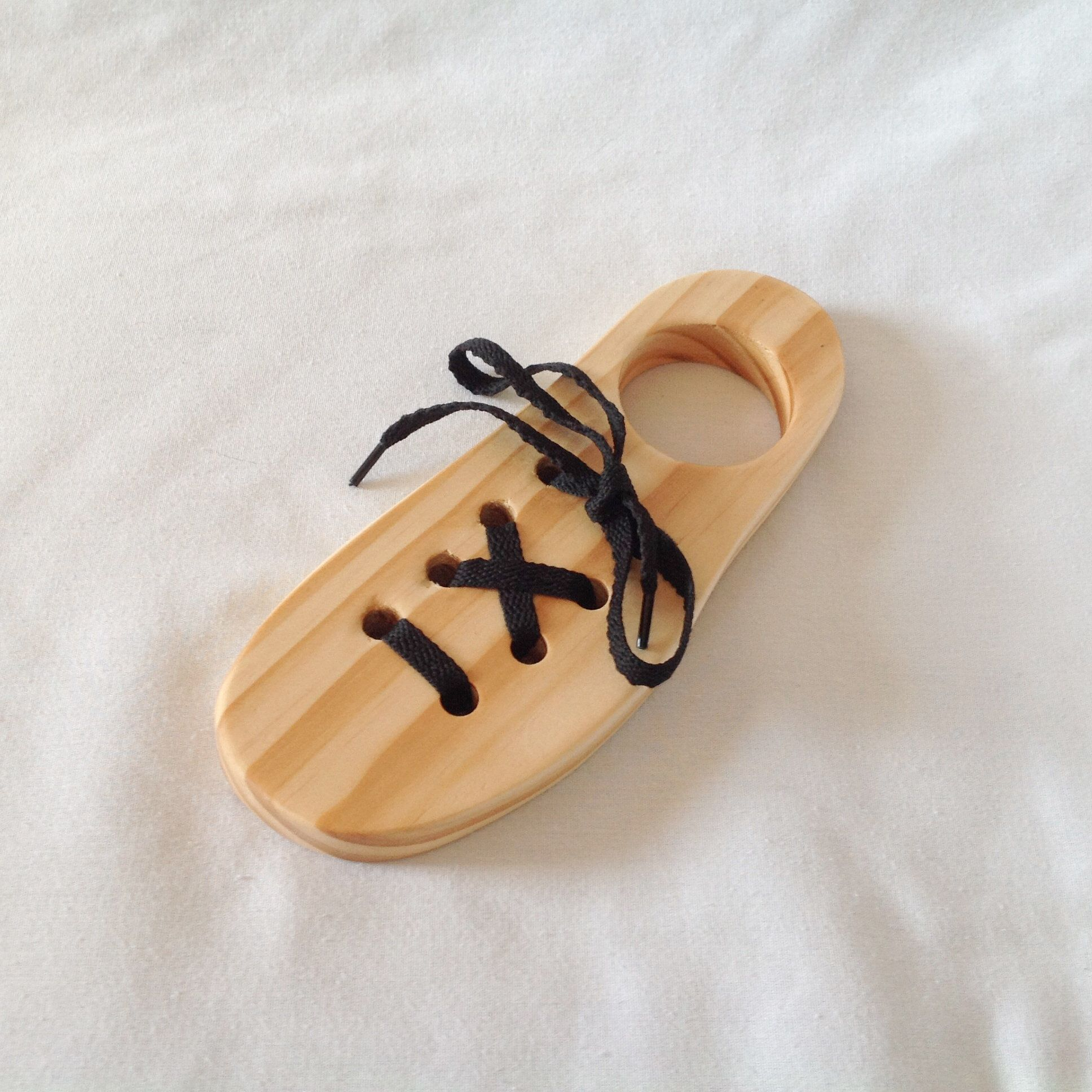 Wooden Shoe Tying Learning Toy A Device For Learning How