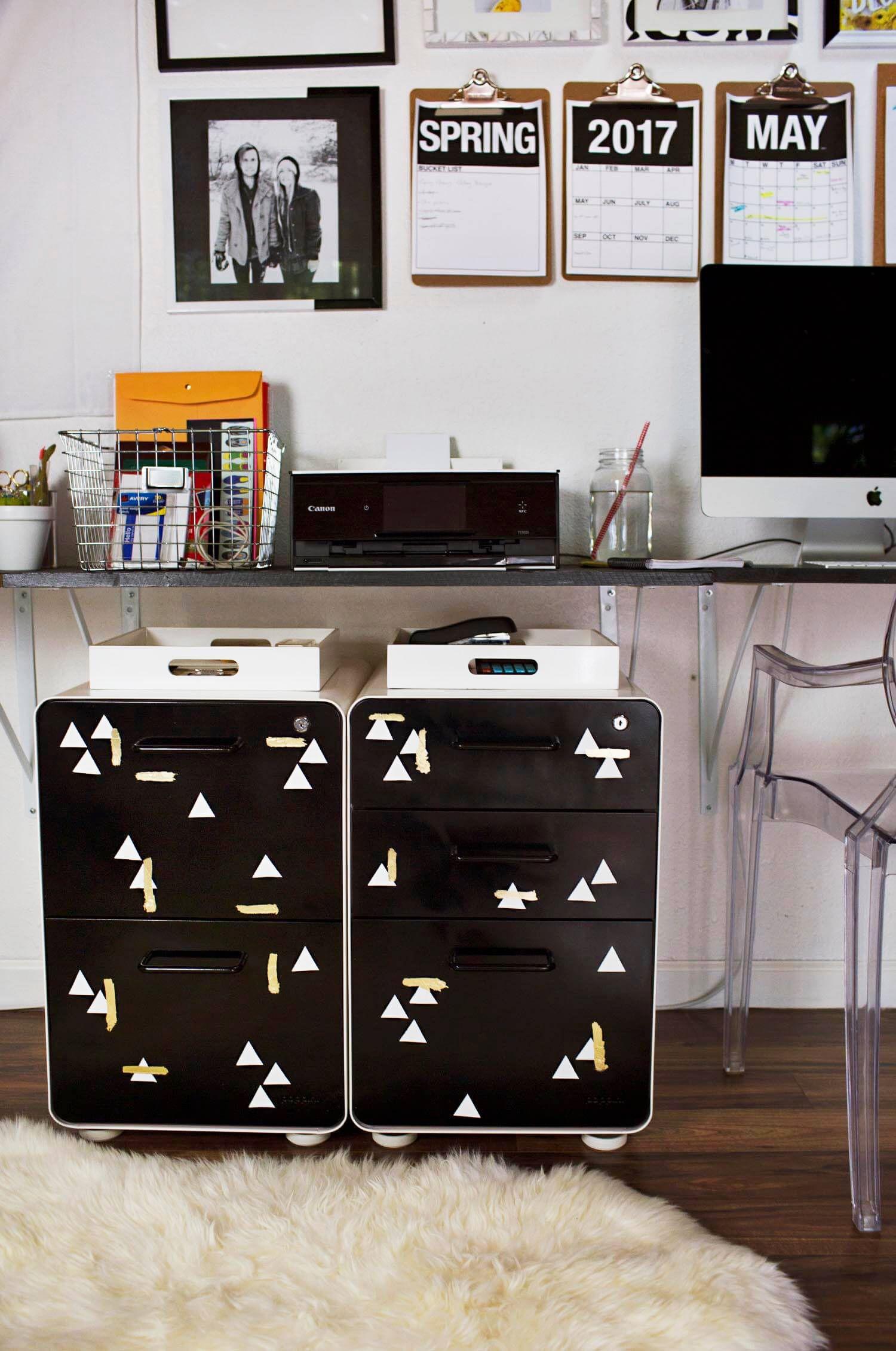 Metal File Cabinet Makeover Metal File Cabinet