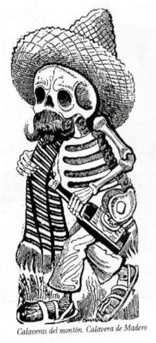 calaveras de dia de muertos dibujo | Tapame con tu reboso ...