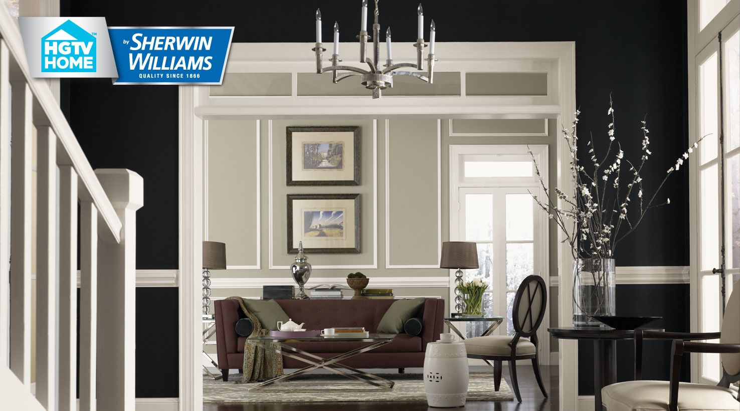 sherwin williams livable luxe room ideas | SW - HGTVLivableLuxe - 1