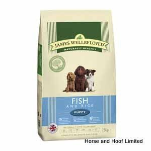 James Wellbeloved Fish Rice Puppy Food 7 5kg Composition Fish Meal