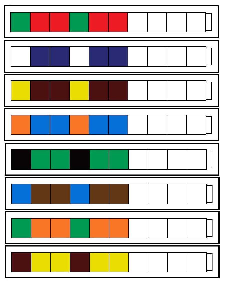 children complete the patterns using unifix cubes pre k preschool math pattern worksheet. Black Bedroom Furniture Sets. Home Design Ideas