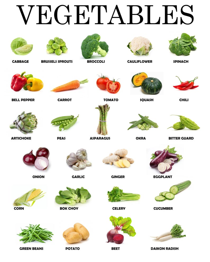 Instant Download | Printable Vegetables Educationa