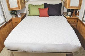 Amazon.com - AB Lifestyles Camper King 72x80 USA MADE Mattress Pad, Quilted Mattress cover for Travel Trailer, RV or Camper - Rv Sheets King