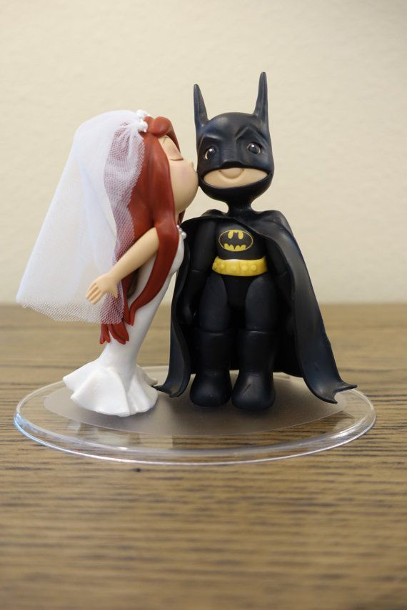 ariel wedding dress and batman cake topper wedding cake topper little mermaid batman. Black Bedroom Furniture Sets. Home Design Ideas