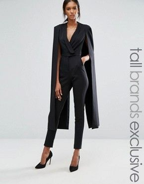Search Black Jumpsuit Cape Page 1 Of 1 Asos Latrell Laholiday