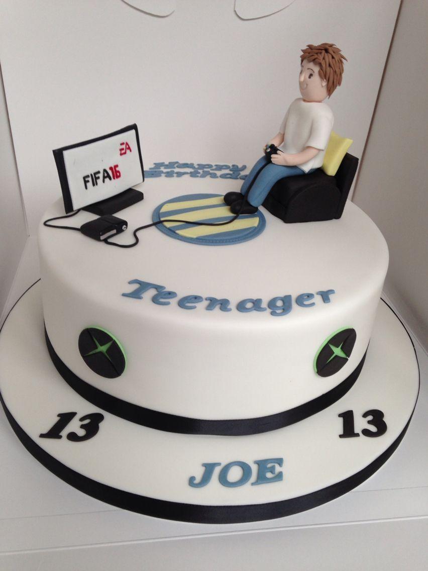 Teenager Xbox Fifa 16 Cake In 2020 Teenie Geburtstagskuchen Geburtstagskuchen Fur Manner 20 Geburtstag Kuchen