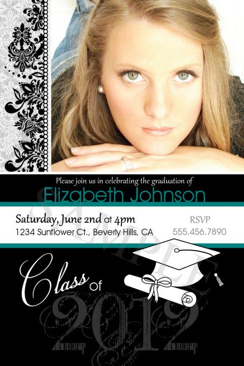 graduation announcement or party invitations  print your