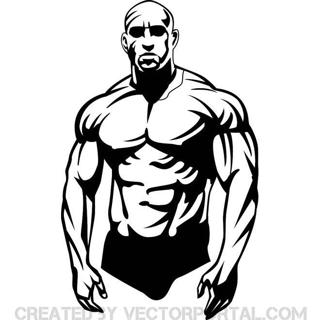 Bodybuilder Clip Art Free Vector Muscle Men Body Builder Gym Art