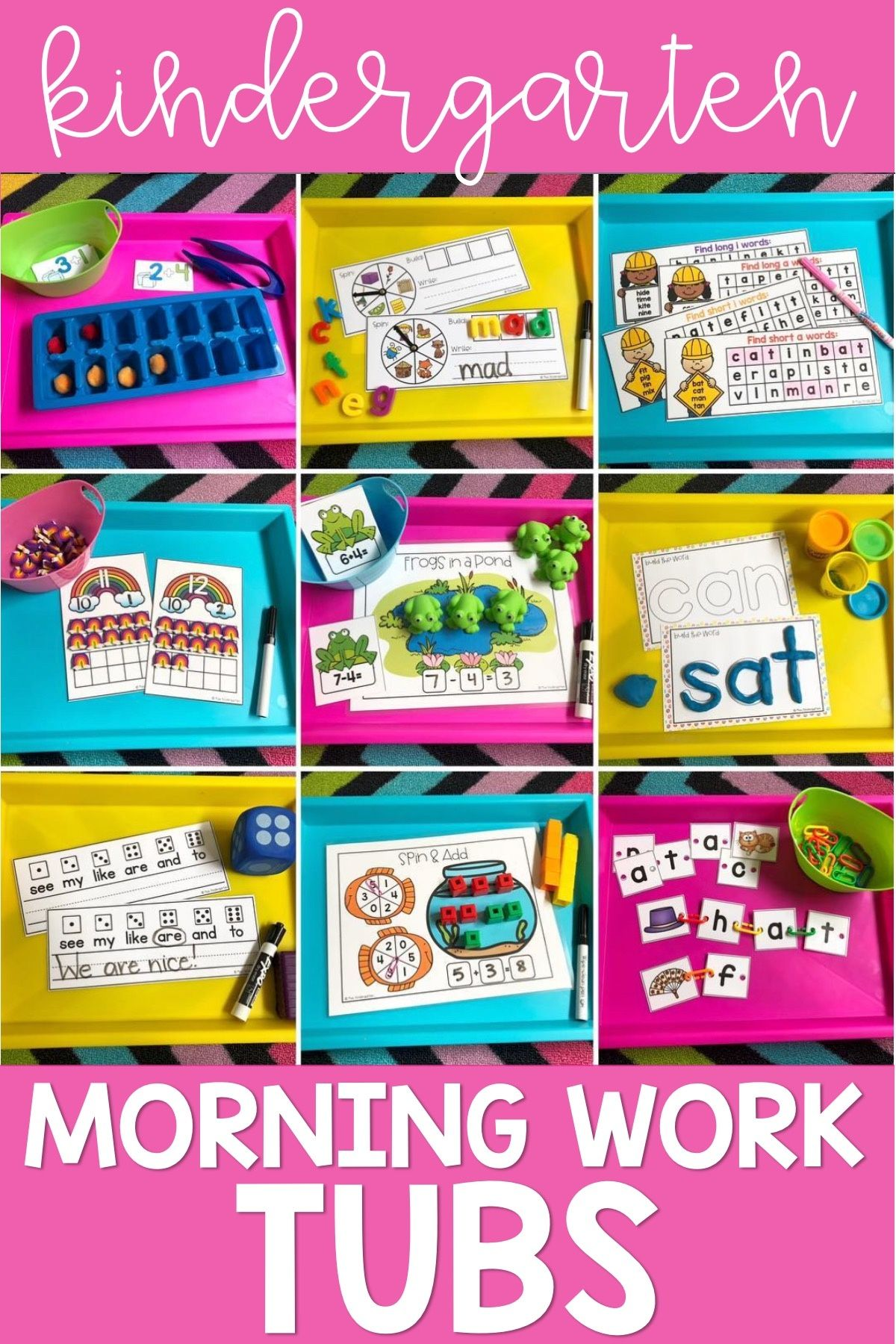 Kindergarten Morning Work BUNDLE   Morning Tubs Activities for the Entire Year