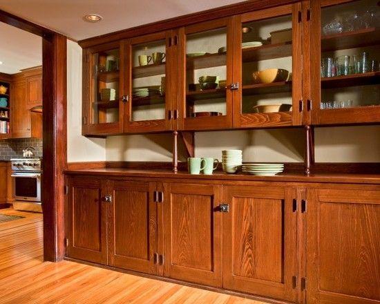 Rift Sawn Oak Arts Crafts Time Period Style Kitchen Bungalow Kitchen Craftsman Kitchen