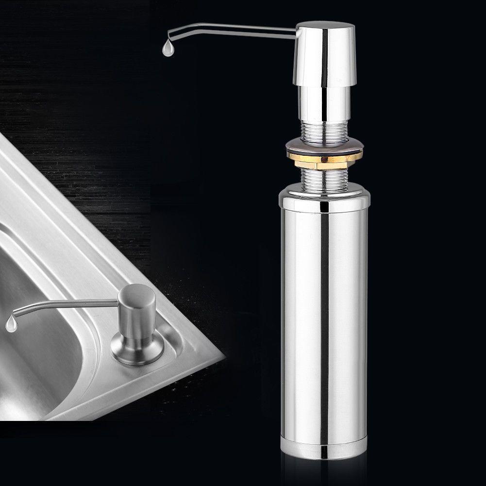 Stainless Steel Liquid Soap Dispenser Bottle Kitchen Bathroom