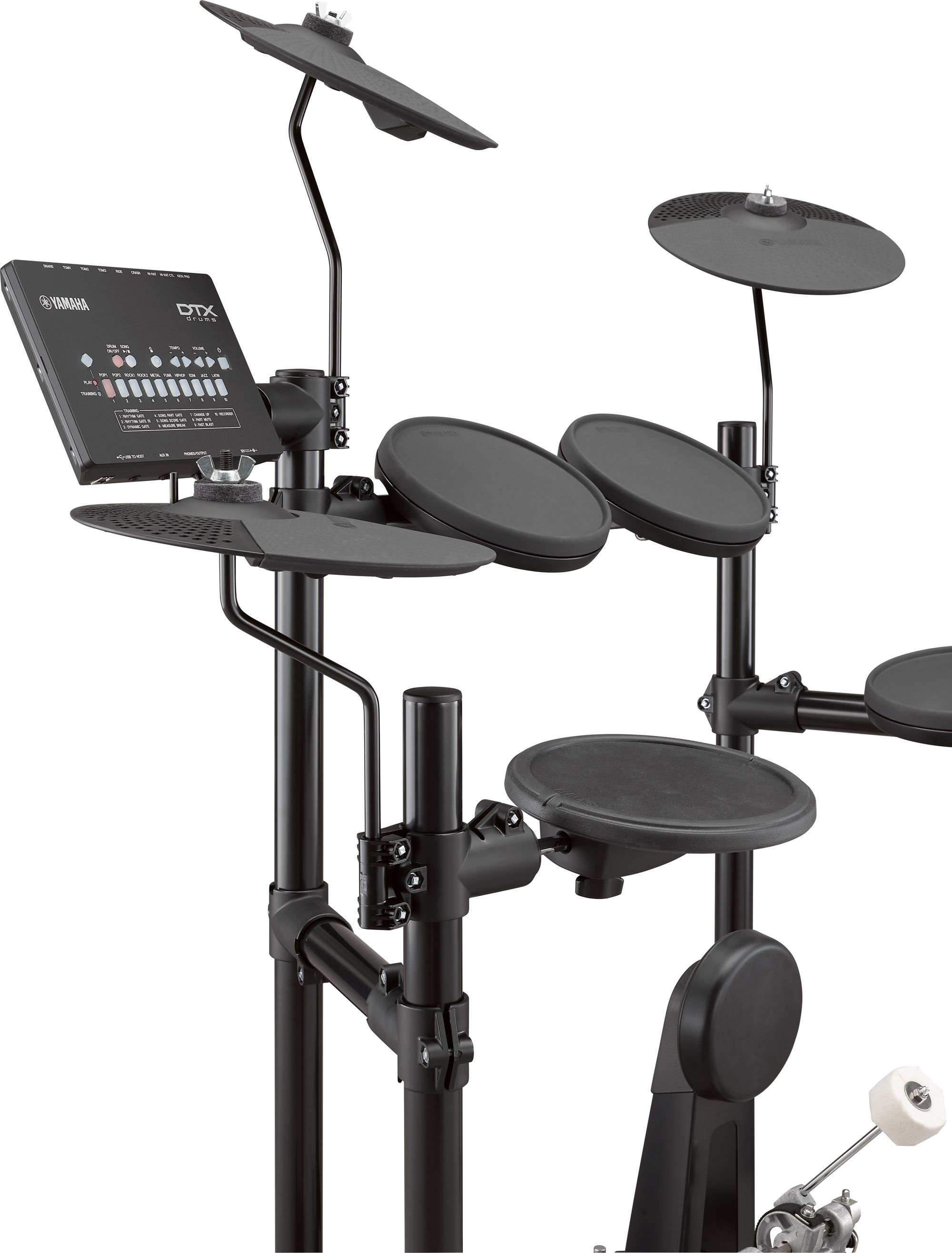 Yamaha DTX402 Series electronic drum sets feature stereo-sampled