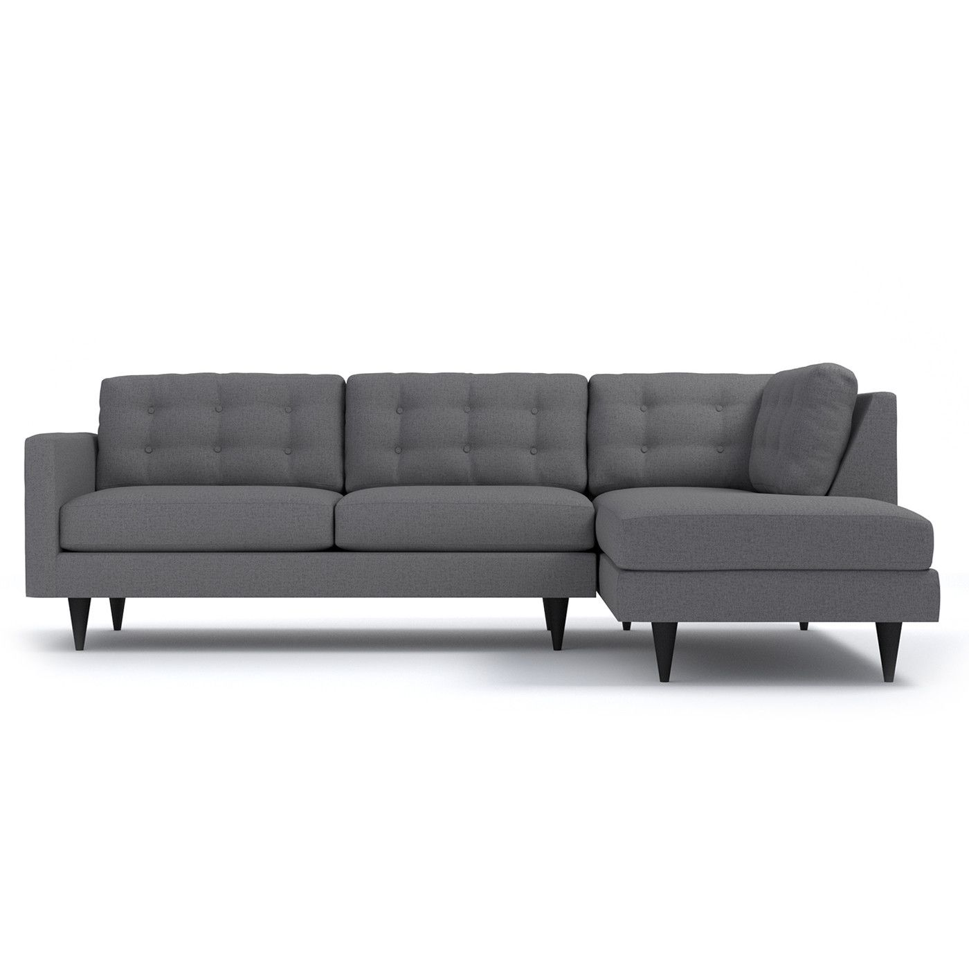 Tufted Sectional Sofa Layout