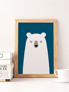 Bear Print, Cute Bear, Nursery Wall Decor, Cute Art Work, Bear Poster, Kids  Bear Print, Kids Room Decor, Minimalist Kids Art, Nursery Decor