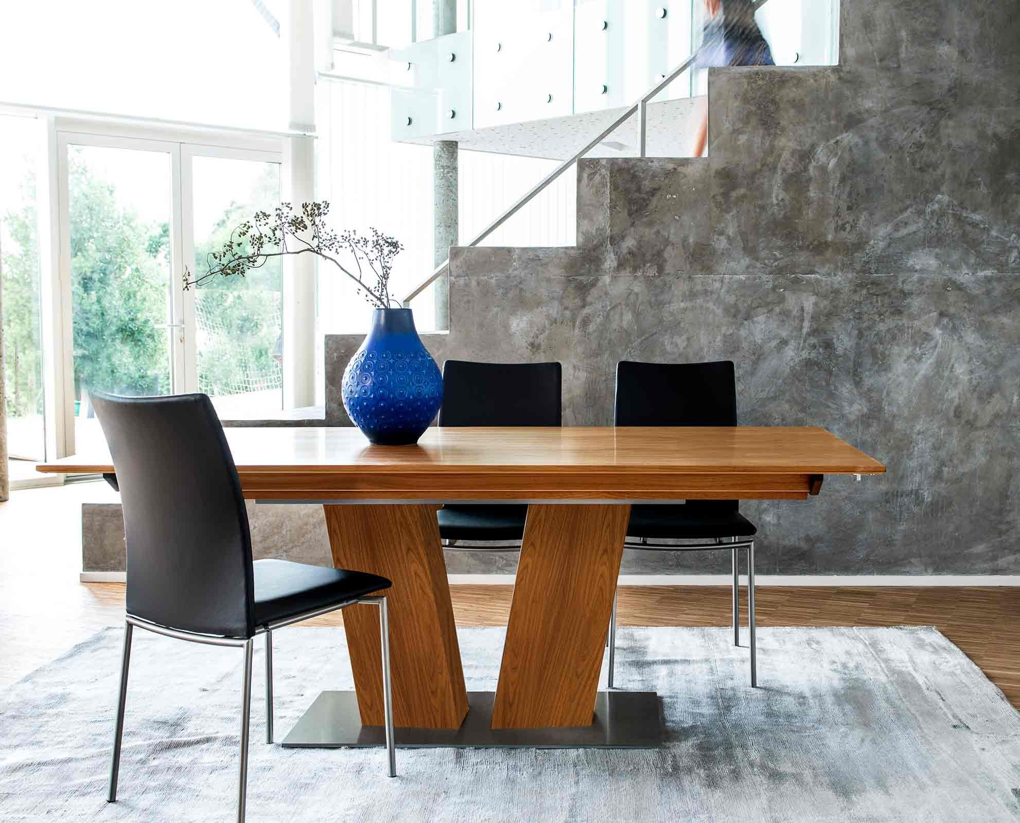 Dania   With A Dynamic Appearance, The Hadsten Dining Table Features A  Sculptural V