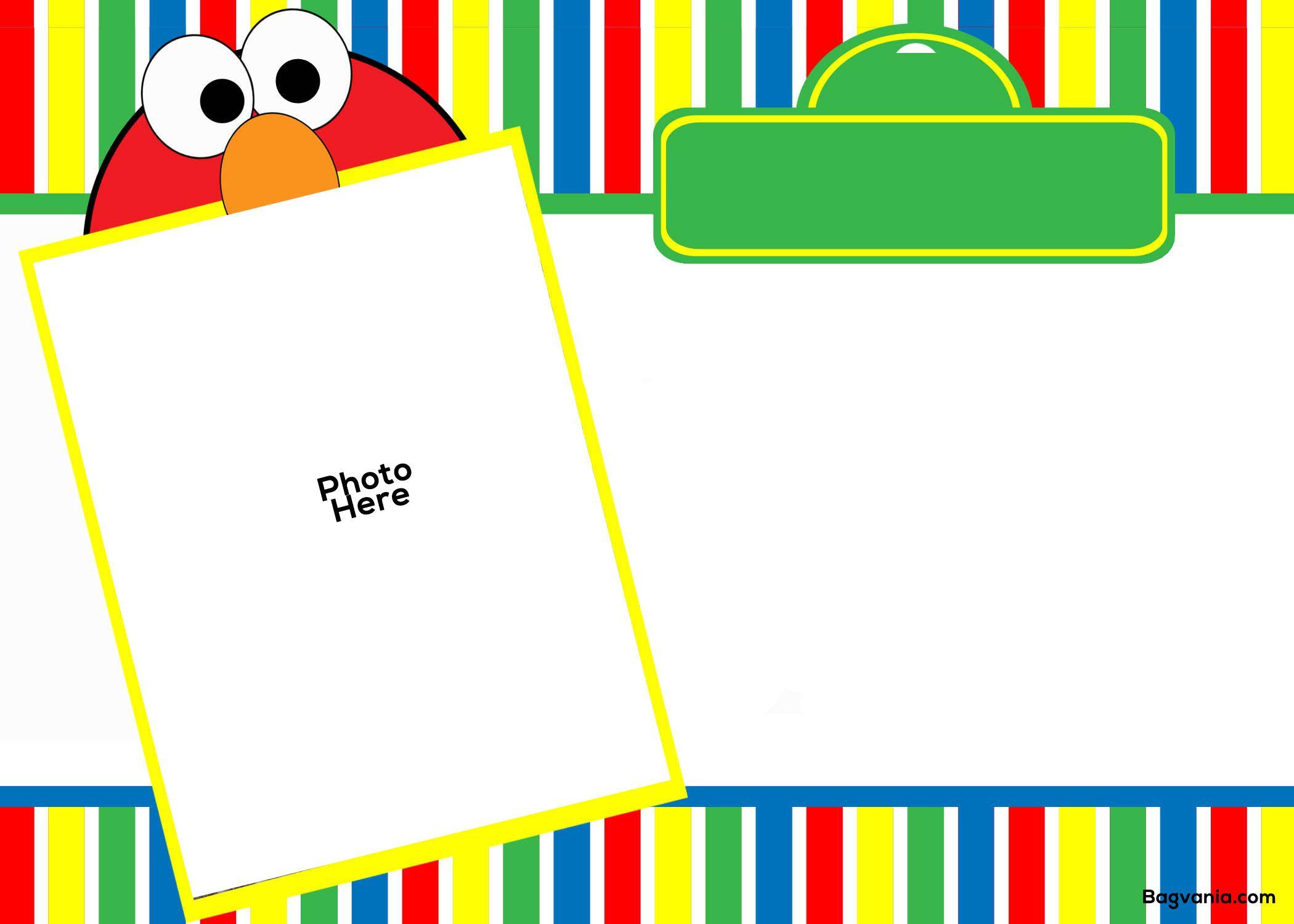 Free Free Printable Elmo Birthday Invitations Elmo Birthday Invitations Elmo Invitations Birthday Card Template