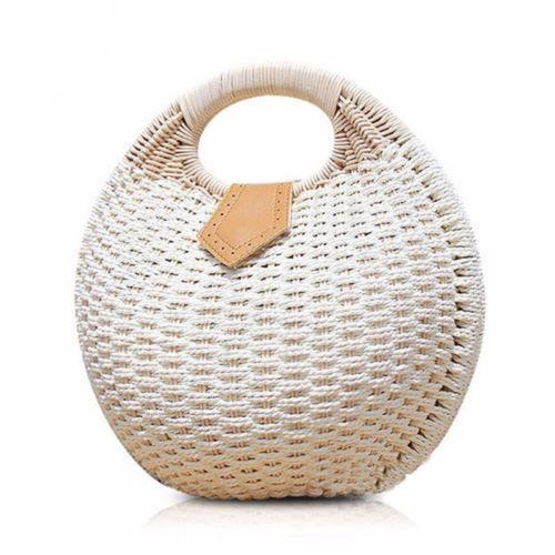 Details About Fashion Top Handle Handbags Women Bag Designer Straw Bags High Quality