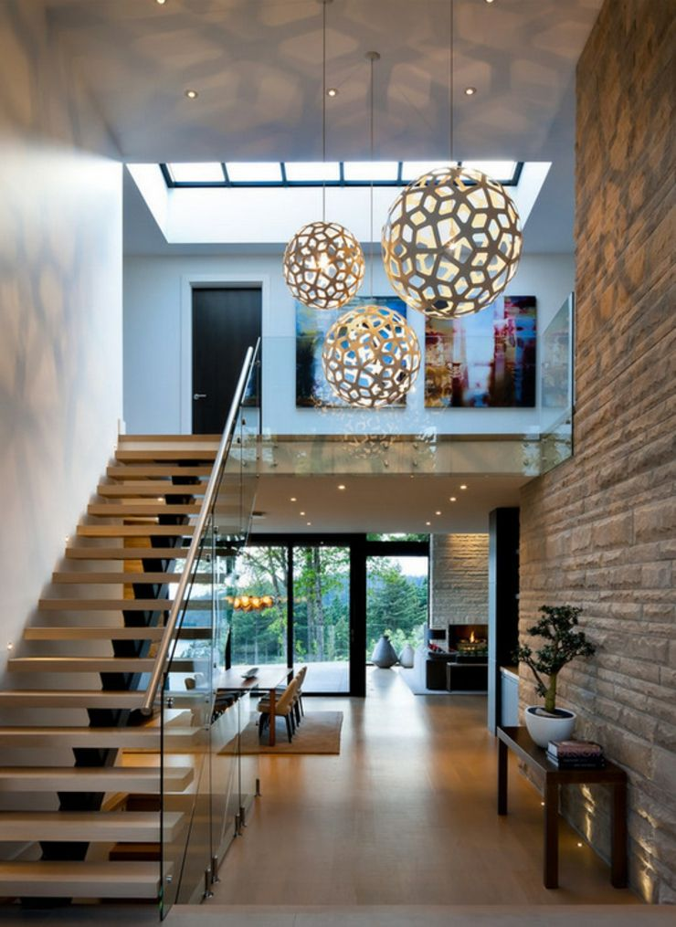 Vue De Cette Maison Moderne Depuis Son Entree Principale Villa